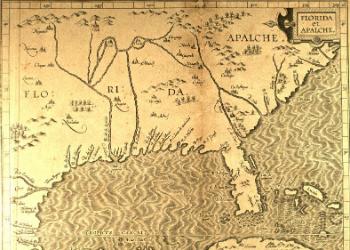 Florida & Apalche Map 1597