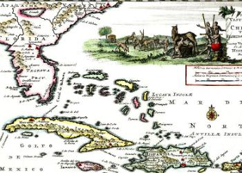 De Vaste Kust van Chicora Tussen Florida en Virginie 1706
