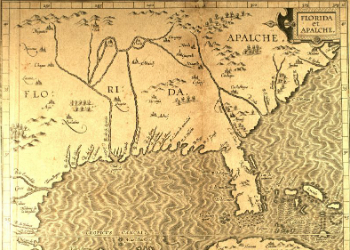 Florida & Apalche Map 1597