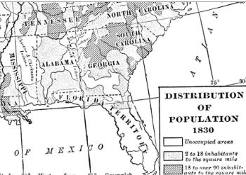 Fox's Population Distribution Map 1830