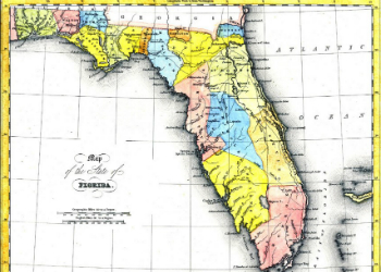 Fenner Sears & Co. - Counties of Florida Map 1832