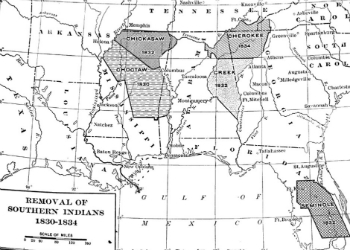 Fox's Removal of the Indian Population Map 1834